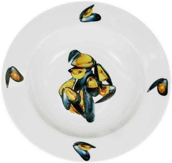 Cosy trendy deco mosselbord 21 5 cm wit koken en tafelen - Deco klassiek koken ...
