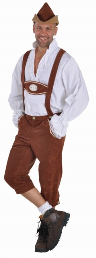 Oktoberfest Bruine lederhosen voor heren 52-54 (m) in Wavre