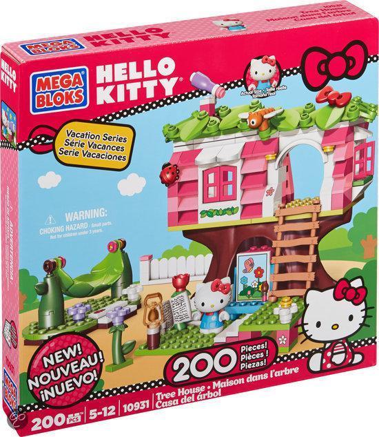 Mega Bloks Hello Kitty Boomhuis - Constructiespeelgoed in Wilbertoord