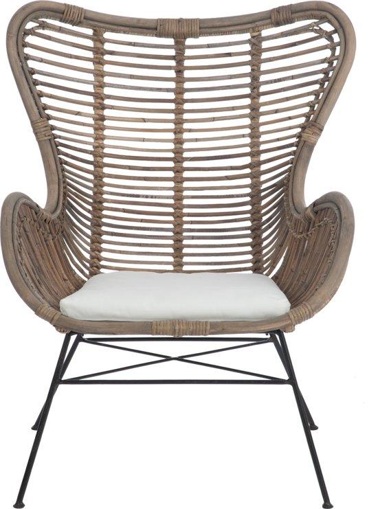 Loungestoel rotan for Kussens voor op stoelen