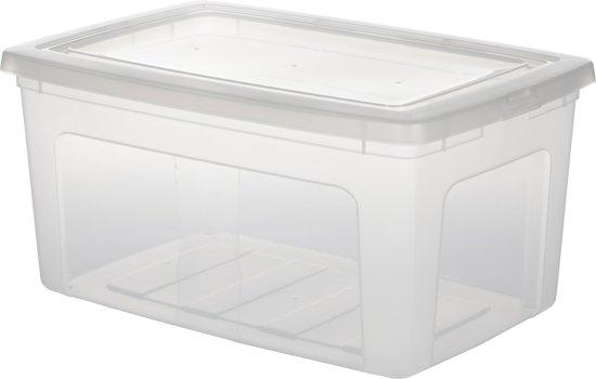 iris clearbox opbergbox 50 l kunststof transparant. Black Bedroom Furniture Sets. Home Design Ideas