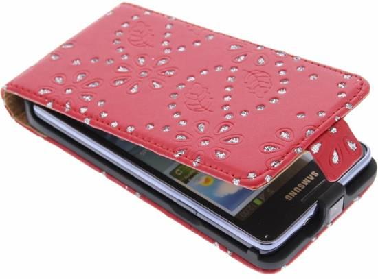 Rode Keukenapparaten : bol.com Rode bloemblad design flipcase – Samsung Galaxy S2 (Plus