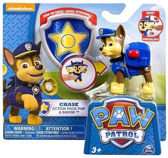 Paw Patrol pup Chase + Badge in Goedereede