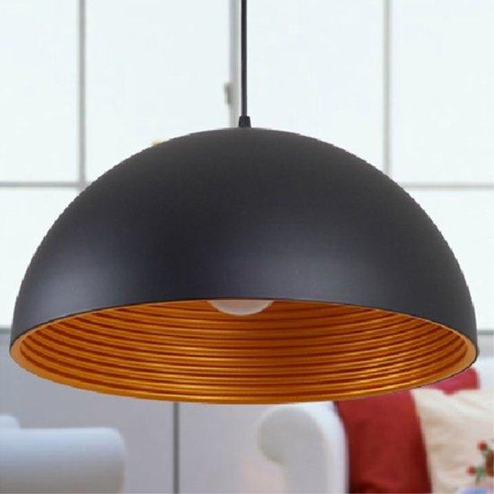 Patroon Draad Metal Hanglamp Zwart