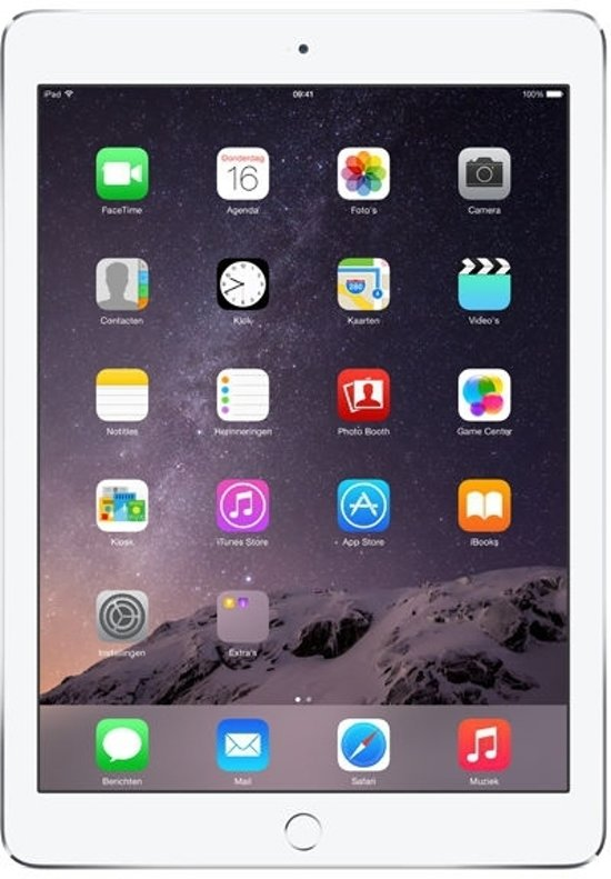 Apple iPad Air 2 - 4G + WiFi - Zwart/Grijs - 128GB - Tablet