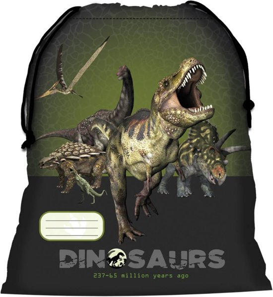 Animal Pictures Dinosaurus - Gymbag - 42 cm - Groen in Dale