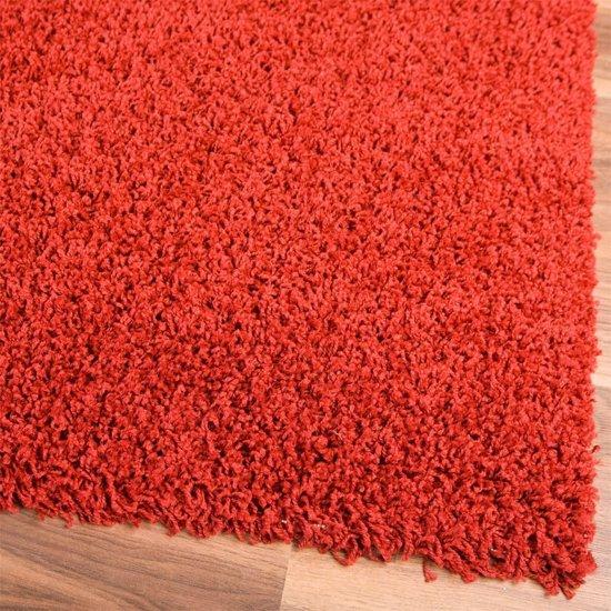 Tapeso shaggy modern tapijt rood 120x170 wonen - Kleur rood ruimte ...