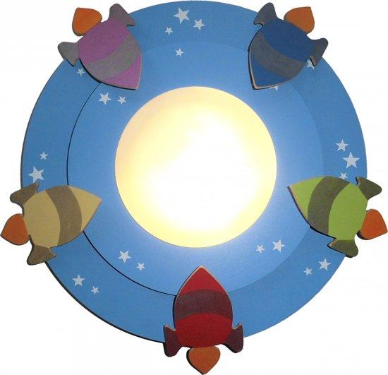 Plafonniere Kinderkamer : Bol funnylight raketten plafonniere blauw ...