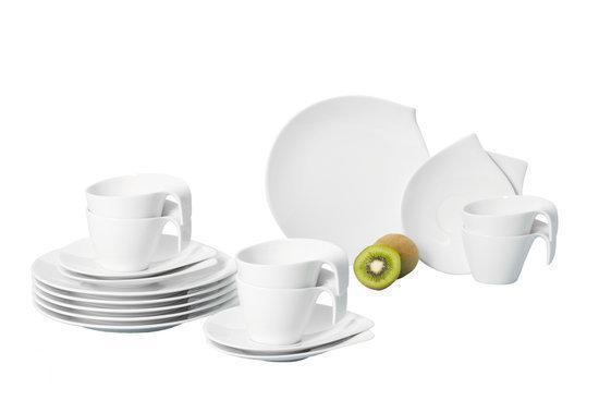 villeroy boch flow coffee borden set van 18 stuks koken en tafelen. Black Bedroom Furniture Sets. Home Design Ideas