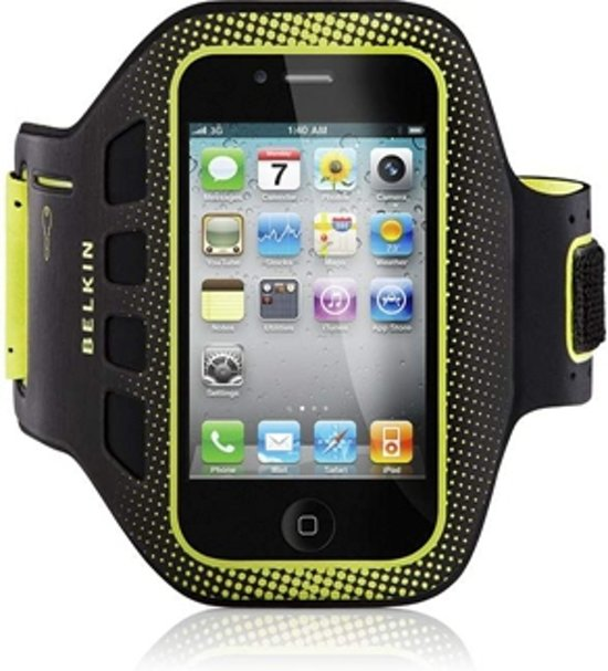Belkin EaseFit Sportarmband voor Apple iPhone 4/4S - Zwart