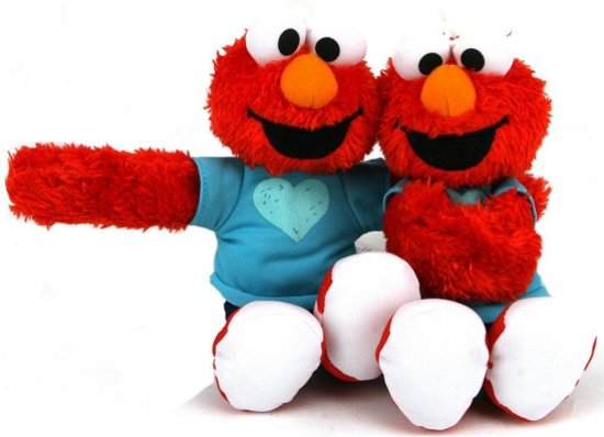 Pluche Elmo Sesamstraat knuffel 24 cm in Doeveren
