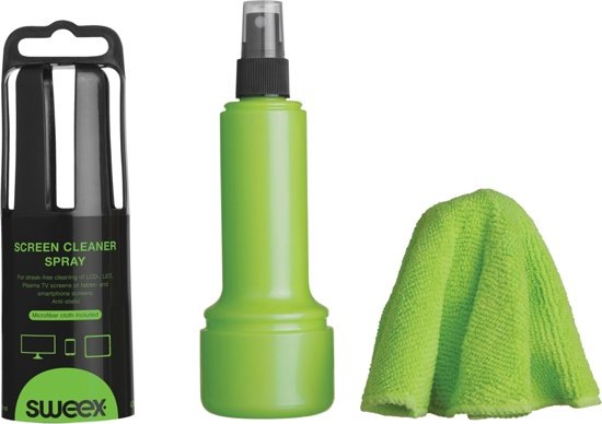 Screen Cleaner Spray 150 ML Green. WithCloth. Anti-Static