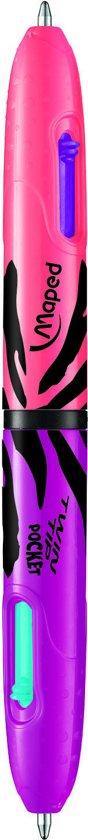 Twin Tip balpen Pocket 4 kleuren fancy - assorti kleuren - in  doos in Vaals
