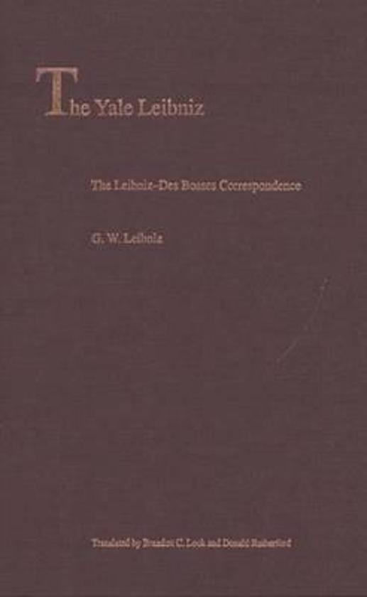 The leibniz des bosses correspondence donald rutherford