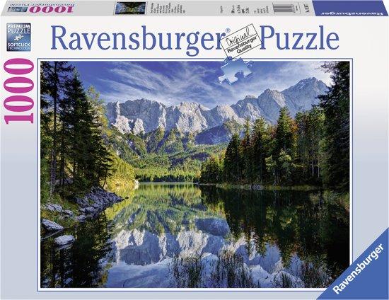 Ravensburger Eibsee Wettersteingebergte en Zugspitze - Puzzel van 1000 stukjes in Gouy-lez-Piéton
