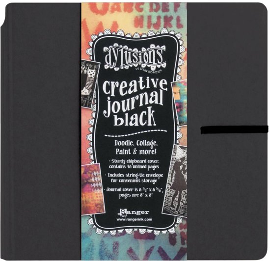 Dylusions Dyan Reaveley's Creative Square Black Journal 8