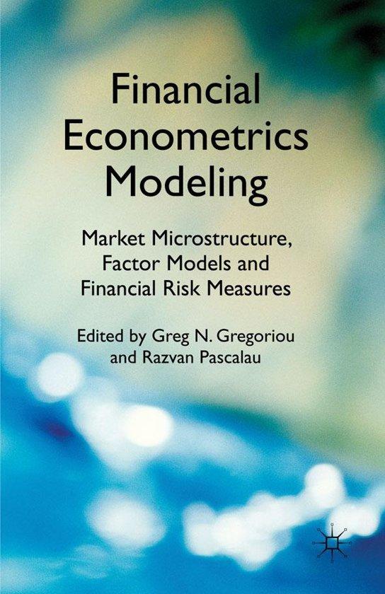 bol.com | Financial Econometrics Modeling: Market ...