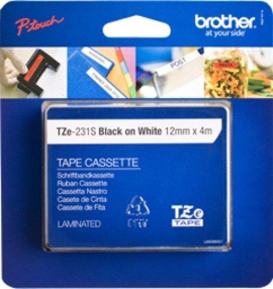 Brother TZE-231S Zwart op wit TZe