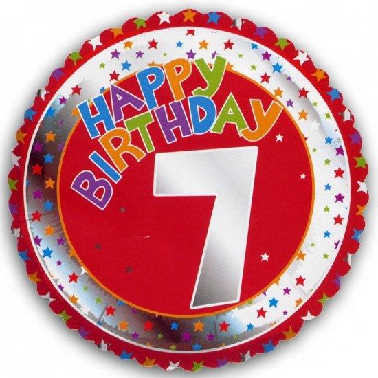 Happy birthday 7 jaar folie ballon for Deco slaapkamer jongen jaar oud