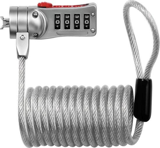 MASTER LOCK 2120EURD Combinatie Grijs, Rood kabelslot