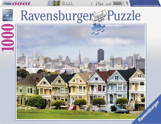 Ravensburger Painted ladies, San Francisco - Puzzel van 1000 stukjes in Eppegem