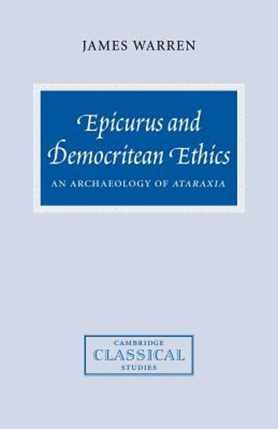 epicurean ethics Someone in one of our facebook discussion groups recently brought up hume's  essay titled the epicurean, which is followed by a portion on.