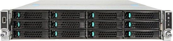 Intel R2312WTTYSR Intel C612 LGA 2011-v3 2U Zwart server barebone