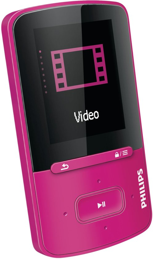 Philips GoGear Vibe - MP4 speler - 8 GB - Roze