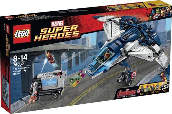 LEGO Super Heroes De Avengers Quinjet Stad Achtervolging - 76032 in Laagstraat