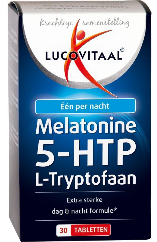 Lucovitaal Melatonine 5-HTP L-Tryptofaan  - 30 Tabletten - Voedingssupplementen