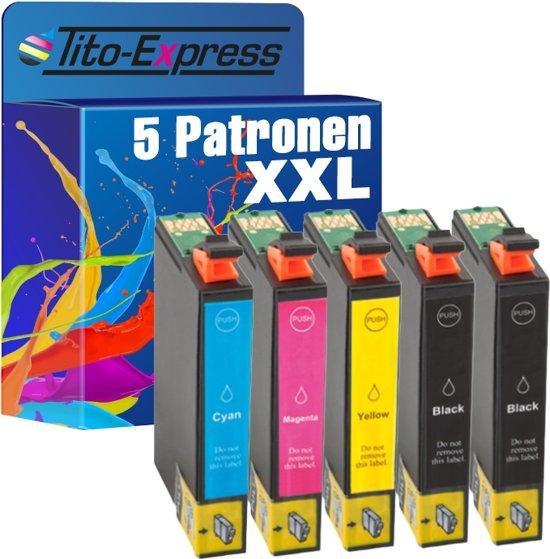 PlatinumSerie® 5 inktpatronen XL compatibel voor  Epson 29XL TE2991-TE2994 Black Cyan Magenta Yellow Epson Expression  Home:XP-235  / XP-330 Series / XP-332 / XP-335 / XP-430 Series / XP-432 / XP-435