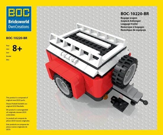 LEGO/BOC - Rode Bagagewagen - 10220 - VW T1 in Hamrik