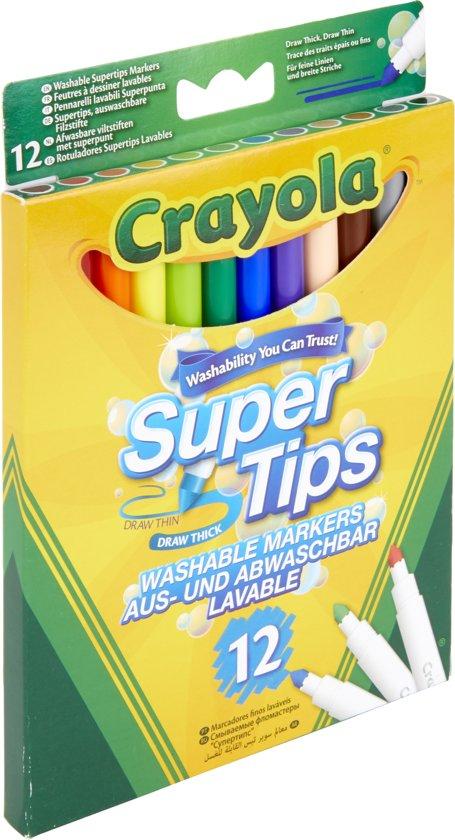 Crayola 12 Viltstiften met superpunt in Folx-les-Caves