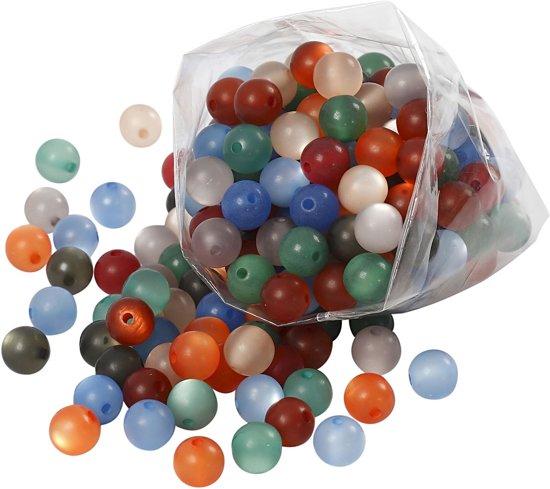 Resin kralen, d: 10 mm, kleuren assorti, 250 assorti, 150 gr in Wevershoek