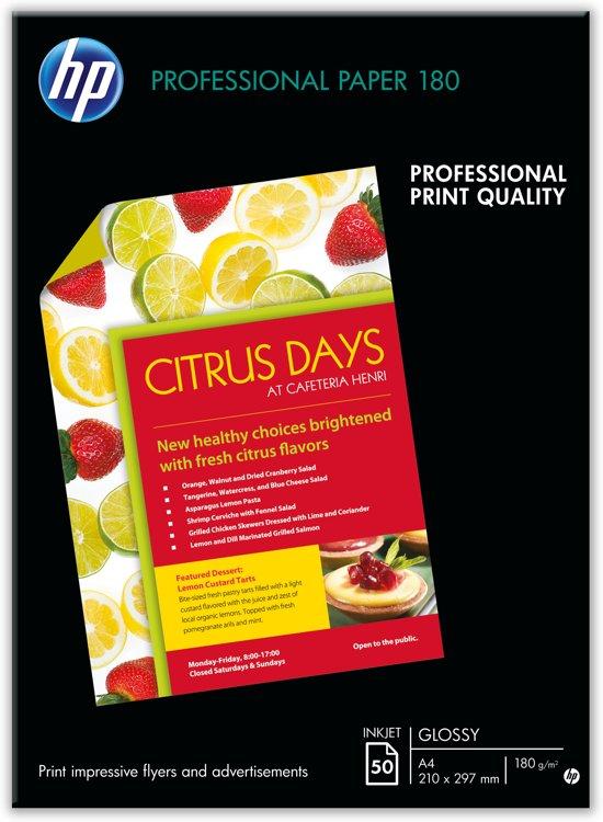 HP Brochure en Flyer Paper Glossy / A3 180g/M2 / 50 Vellen