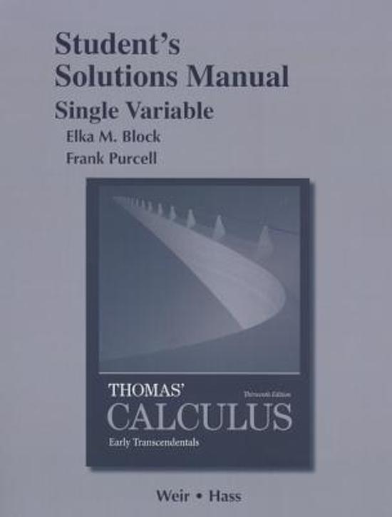 thomas calculus 12th edition solution manual pdf