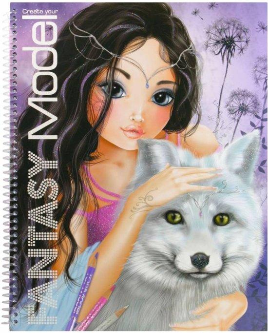 Bol Com Topmodel Create Your Fantasy Model Kleurboek Top