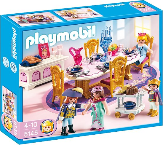 Playmobil koninklijk feestmaal 5145 playmobil for Salle a manger playmobil city life