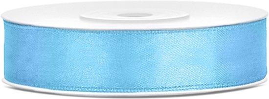 Satijn lint licht blauw 12mm/rol 25m in Strijp