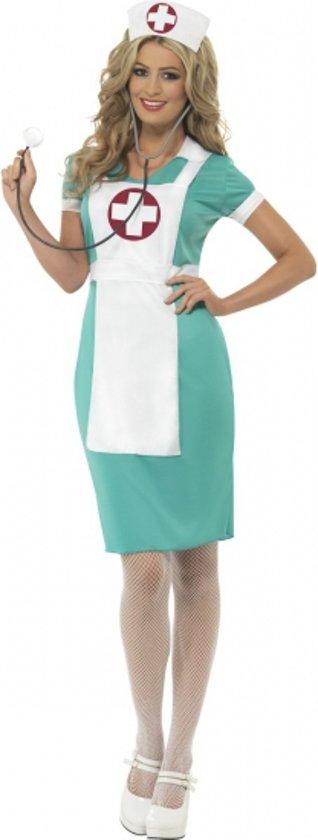 Voordelige zuster jurk met schort 36-38 (s) in Boijl / Boyl