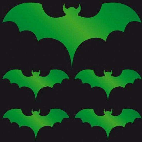 Halloween Reflecterende sticker groene vleermuis in \'t Haantje