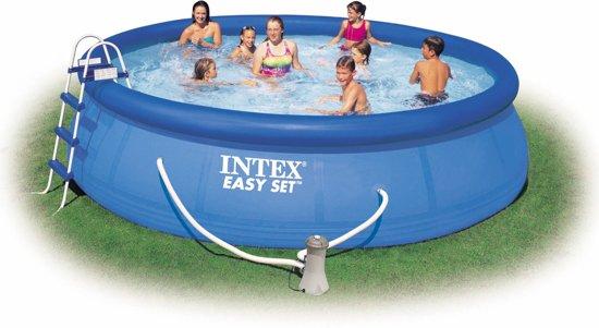 Intex easy set opblaasbaar zwembad 366 cm inclusief 12v for Filterpomp zwembad intex