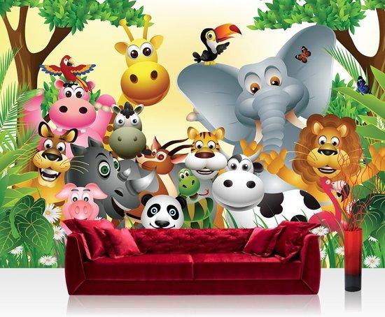 "bol.com  Fotobehang ""Dieren jungle party kinderkamer ..."