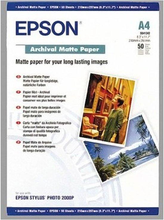 Epson C13S041342 Archiefpapier - A4 / 192g/m / Mat