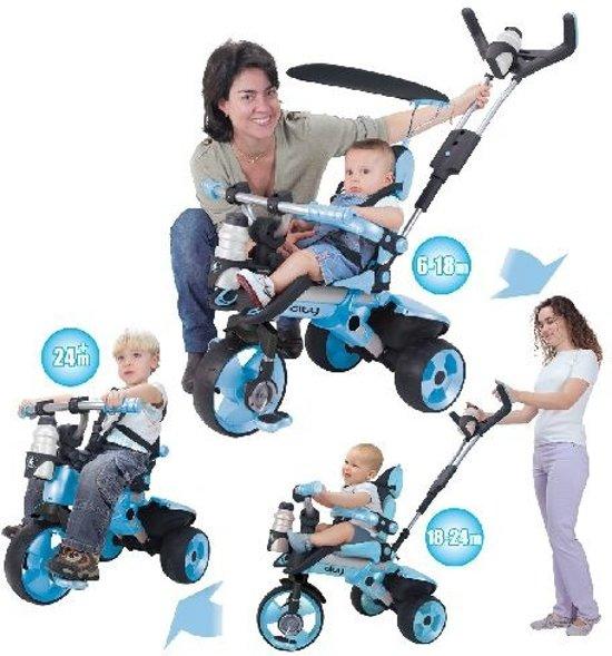 Injusa City Trike meegroei driewieler blauw in Zonnegem