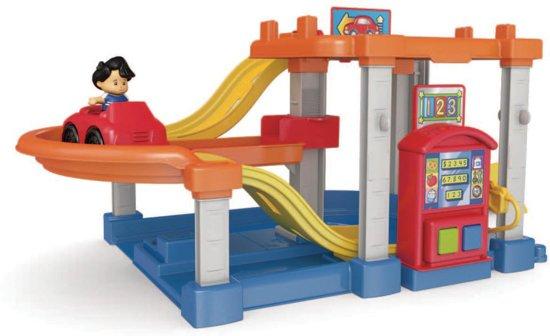 Fisher price little people race helling garage speelgoed garage mattel - Een helling aanpassen ...