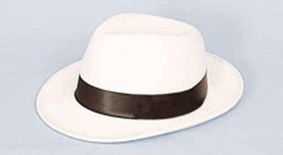 Al Capone maffia hoed wit met zwart in Burgerveen