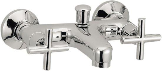 Plieger cross badkraan met omstel 15 cm hartafstand chroom klussen - Moderne badkraan ...