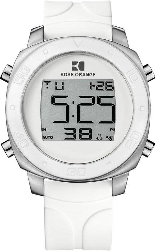 hugo boss orange ho1512677 horloge 46 mm wit. Black Bedroom Furniture Sets. Home Design Ideas