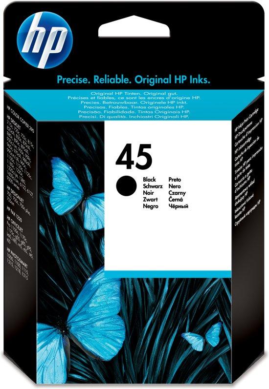 HP 45 - Inktcartridge / Zwart (51645GE)
